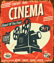 Grunge retro cinema poster vector illustration Royalty Free Stock Photo