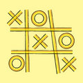 Grunge retro tic tac toe  background Royalty Free Stock Photo