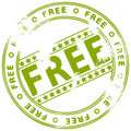 Grunge rubber ink stamp FREE Stock Photography