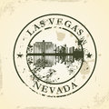 Grunge rubber stamp with las vegas nevada vector illustration Stock Photo