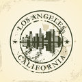Grunge rubber stamp with los angeles california vector illustration Royalty Free Stock Photography