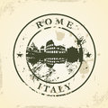 Grunge rubber stamp with rome italy vector illustration Stock Images