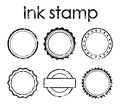 Grunge rubber stamp set Royalty Free Stock Photo