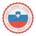 Guma pečiatka slovinsko vlajka