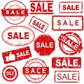 Grunge rubber stamps collection Royalty Free Stock Photo