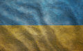 Grunge rugged ukrainian flag weathered ukraine condition waving Royalty Free Stock Photo