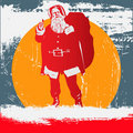 Grunge Santa Stock Photography