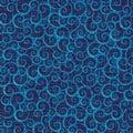 Grunge scrollwork pattern Stock Photo