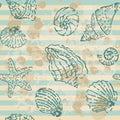 Grunge Sea Seamless pattern Royalty Free Stock Photo
