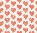 Grunge seamless pattern with handdrawing hearts vector illustration Royalty Free Stock Image