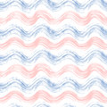 Grunge seamless pattern of rose quartz and serenity wave Royalty Free Stock Photo