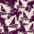 Grunge seamless pattern with sailboats. Vector Royalty Free Stock Photo