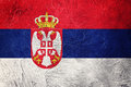 Grunge Serbian flag. Serbia flag with grunge texture. Royalty Free Stock Photo