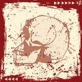 Grunge Skull Royalty Free Stock Photo