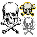 Grunge skull Royalty Free Stock Photography
