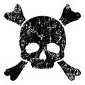 Grunge skull isolated on white illustration Stock Photo