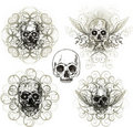 Grunge skull ornament Stock Photography