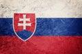 Grunge Slovak Republic flag. Slovak Republic flag with grunge te