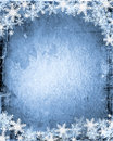 Grunge snowflakes Stock Photos