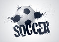 Grunge Soccer Design Royalty Free Stock Photo