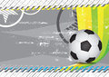 Grunge soccer design background Royalty Free Stock Photo