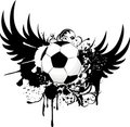 Grunge soccer emblem Royalty Free Stock Photo