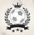 Grunge Soccer laurel weath Royalty Free Stock Photo