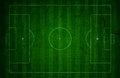 Grunge soccer pitch background style of a football design Royalty Free Stock Photography