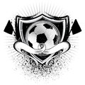 Grunge soccer shield for multiples usages Royalty Free Stock Photography