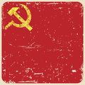 Grunge soviet background with hammer and sickle illustration Royalty Free Stock Photo