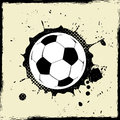 Grunge splash football abstract background Royalty Free Stock Photo