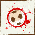 Grunge splash soccer abstract background Royalty Free Stock Images