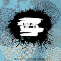 Grunge splodge card. Abstract backdrop design with blots.