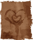 Grunge Stained Love letter Royalty Free Stock Photos
