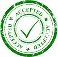 Grunge stamp ACCEPTED Royalty Free Stock Photo