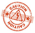 Grunge stamp CAUTION Royalty Free Stock Photo