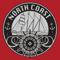Grunge stamp or label with the words north coast written inside the Royalty Free Stock Photos