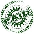 Grunge stamp PAID