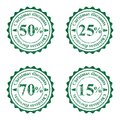Grunge stamps for cristmas sales isolated on white Royalty Free Stock Photo