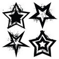 Grunge star set Royalty Free Stock Image