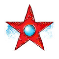 Grunge star symbol vector illustration Stock Image