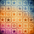 Grunge stars background with illustration Stock Photos