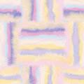Grunge striped and checkered stained seamless patt pattern in pastel colors Royalty Free Stock Photo