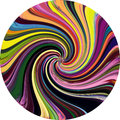 Grunge striped rainbow vortex background Royalty Free Stock Photo