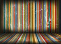 Grunge stripes room Royalty Free Stock Image
