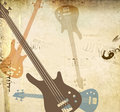 Grunge style background with guitars Royalty Free Stock Photo