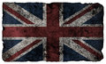 Grunge style british flag isolated Royalty Free Stock Photography