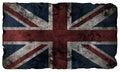 Grunge style British flag Royalty Free Stock Photo