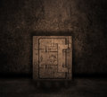 Grunge style image of a room interior with safe Royalty Free Stock Photos