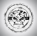 Grunge style Skull Stamp Royalty Free Stock Photos